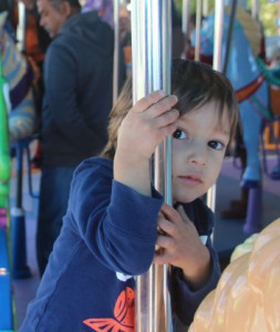 kai on the carousel